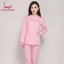 Hand-washing clothes full cotton long-sleeve brush hand service cosmetologist operating room women doctor uniform
