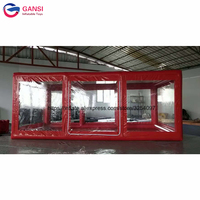 5m transparent pvc inflatable car shelter professional manufacture car capsule inflatable car cover tent for sale