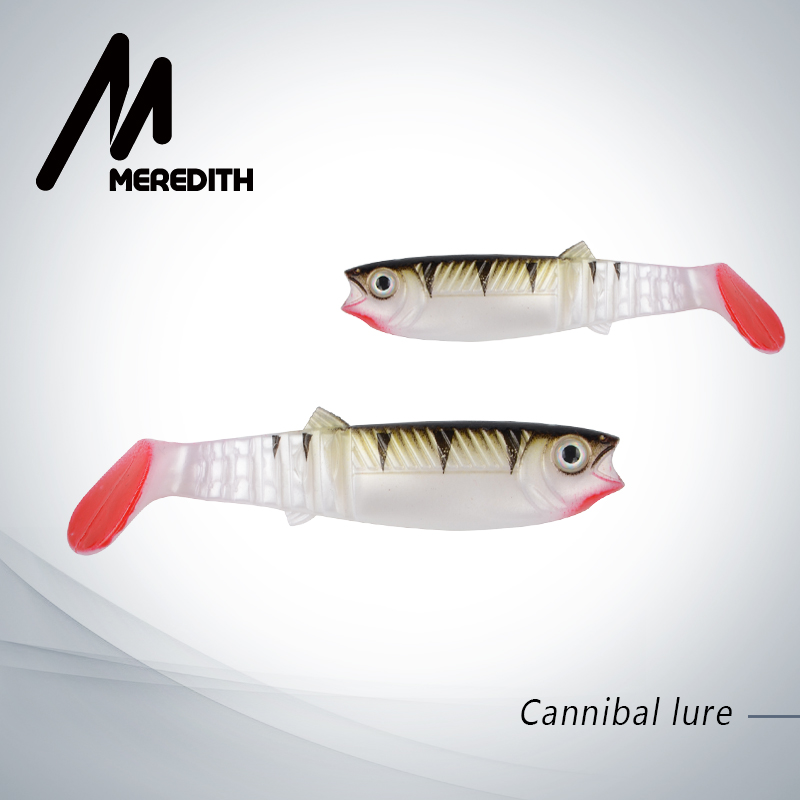 MEREDITH 3PCS 22g 12.5cm Cannibal Soft Lures Shads Fishing Fish Lures Fishing Lures soft Fishing Baits JX62-12 super value 101pcs almighty fishing lures kit with mixed hard lures and soft baits minnow lures accessories box