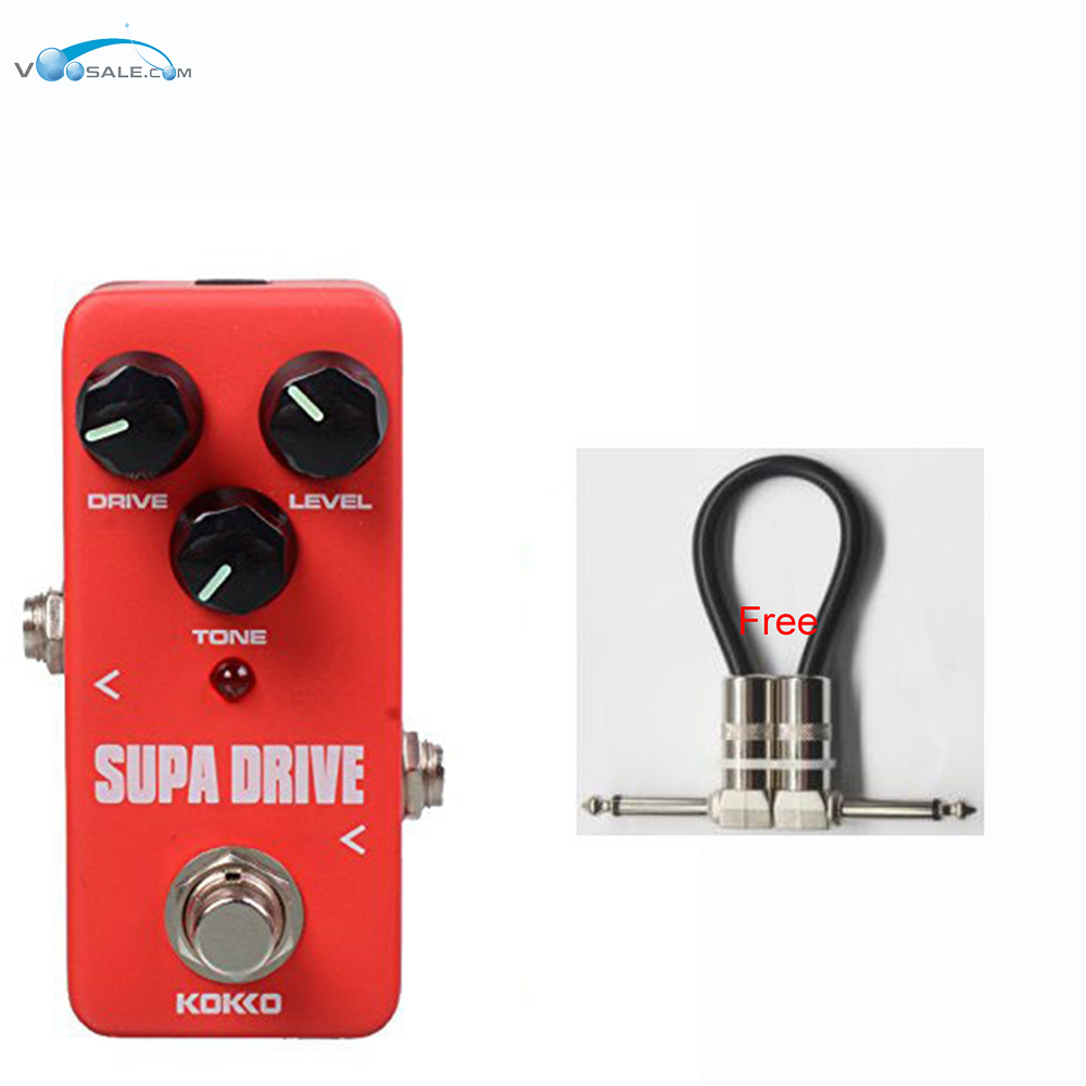 KOKKO FOD5 Mini Supa drive Guitar Effect Pedal Guitarra Overdrive Booster High-Power Tube Overload Guitar Parts+Free Cable kokko fbs2 mini guitar effect pedal guitarra booster high power tube electric guitar two segment eq effect device parts