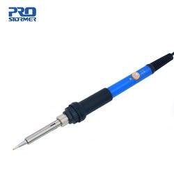 PROSTORMER Регулируемый температура паяльник 60 Вт Электрический Сварочный припой синий Тепло Карандаш бытовой ремонт ручной инструмент