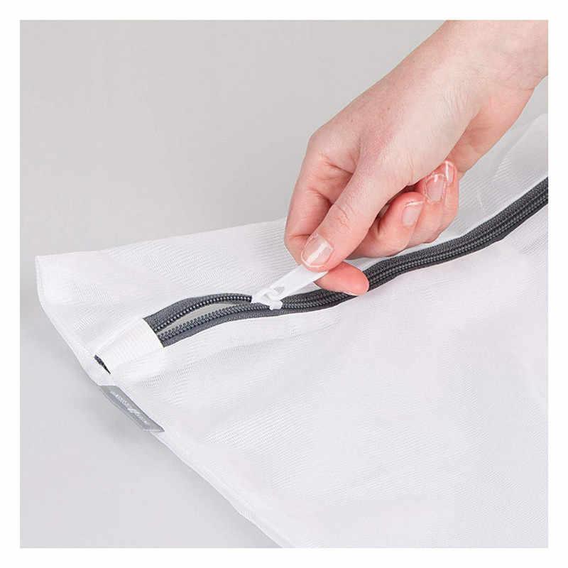 2 pacote de Roupa de Malha Máquina de Lavar Roupas de Proteção Sacos de Lavagem Dobrável Delicados Lingerie Net Meias Sutiã Roupa Interior Venda Quente