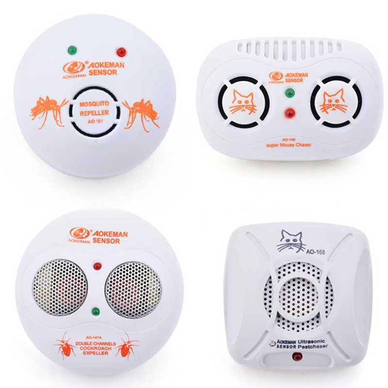 Electric Ultrasonic Repellent Mosquito Repeller Pest Fly Cockroach Rodent Reject Repeller Moles Mice Mouse Trap Indoor Repeller