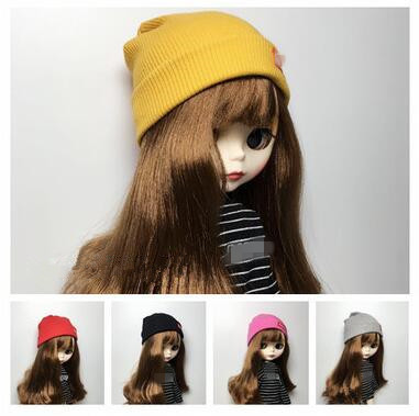 1/6 Fashion Doll Hat For Blyth Doll Clothing Casual Knitted Hat For Pullip 30cm Doll Accessories