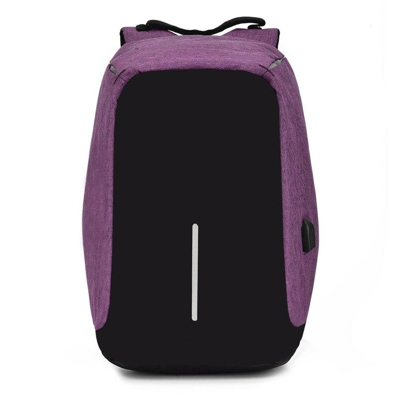Multifunctionele anti diefstal dubbele schoudertas mannelijke reizen USB opladen rugzak computer schooltas voor vrouwelijke studenten - 5