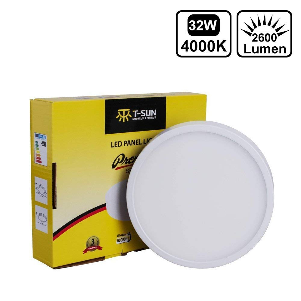 T-SUN 32W Surface Mounted LED Ceiling Lights AC85-265V Round Square LED Downlight led panel light 6w surface mounted led ceiling lights ac 85 265v square led downlight