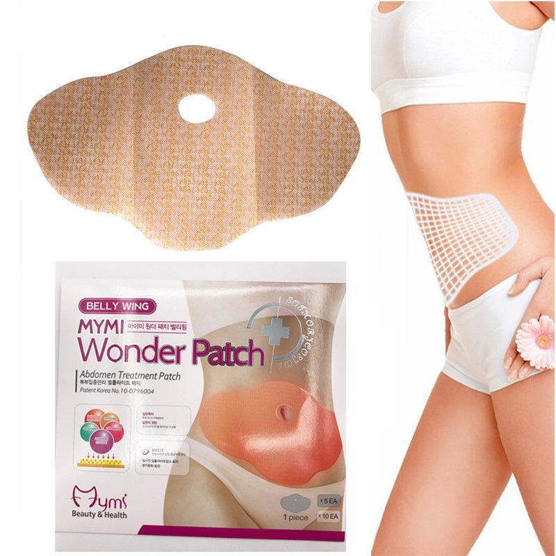 10Pcs Mymi Wonder Patch Quick Slimming Patch Belly Slim Patch Abdomen Slimming Fat Burning Navel Stick Weight Loss Slimer Tool 10pcs chinese medicine patches zb patch navel urinary frequency prostate massage male patch urinary prostatic navel plaster
