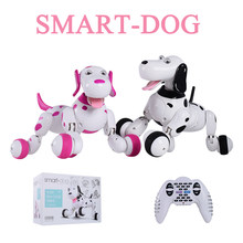 777-338 Birthday Gift RC zoomer dog 2.4G Wireless Remote Control Smart Dog Electronic Pet Educational Children's Toy Robot toys(China)