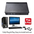 Negro USB Externo Portátil 2.0 Unidad de Disco CD-ROM DVD-ROM Combo CD Burner Grabadora de DVD para el Ordenador Portátil mini PC L3FE