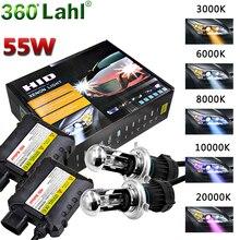Car Headlight 55W 12V Bi Xenon H4 bixenon Lamp HID Conversion Kit Replacement Bulb With Wires 3000K 5000K 6000K 10000K 12000K