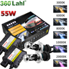 Car Headlight 55W 12V Bi Xenon H4 bixenon Lamp HID Conversion Kit Replacement Bulb With Ballast 3000K 5000K 6000K 10000K 12000K
