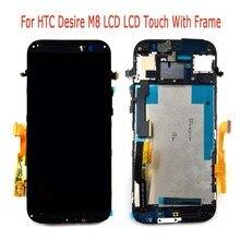 100% probado lcd con el marco para htc one m8 pantalla lcd con pantalla táctil digitalizador incluye el marco