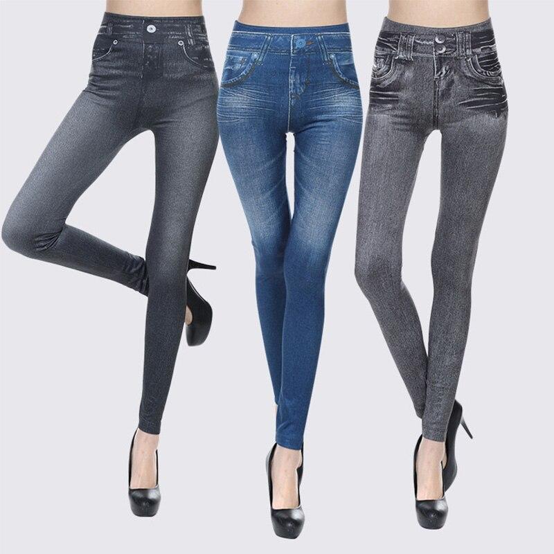 Hot Jeans For Women Denim Pants With Pockets Pull Cashmere Body Imitation Cowboy Slim Imitation Denim Leggings Slim N Lift Case