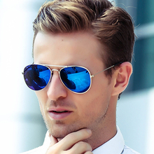2019 AOZE BRAND Sunglasses Mens Vintage Ms. Frame Glare Pilot Aviation 12Color Driving Eye Glasses UV400