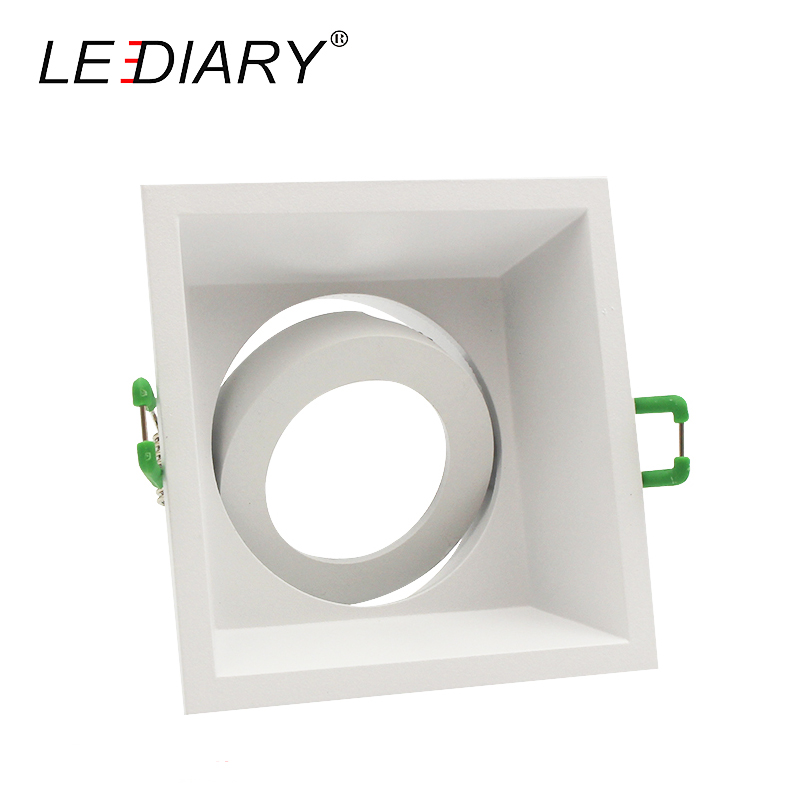 LEDIARY Square Double Rings Downlight Anti-glare Fitting MR16 GU10 85-265V 90mm Cut Hole Deep Concave Recessed Ceiling Spot Lamp цена