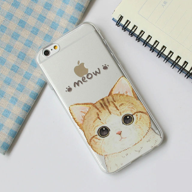 Cute Vintage Cat Case For iPhone 7Plus 7 6Plus 6 S 5 S SE 5C 4 4S