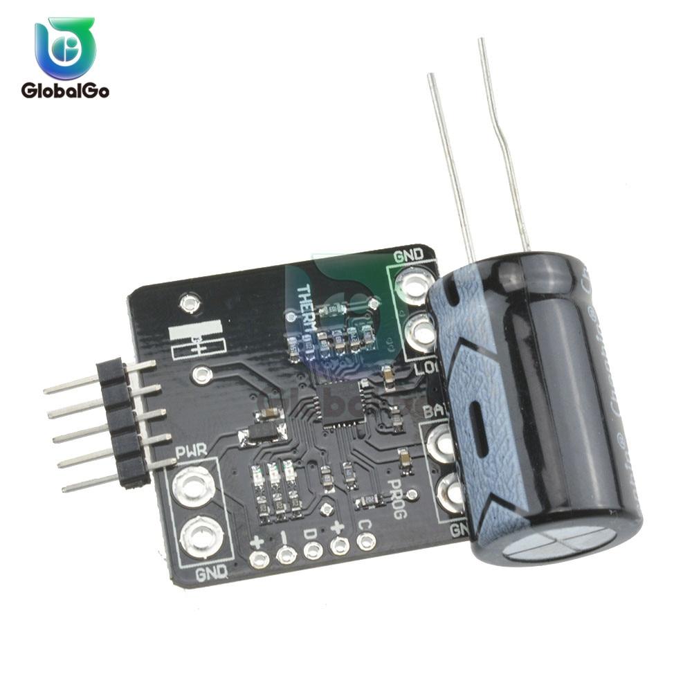 USB DC5V Solar Lipoly Lon Polymer Charger Board 3.7V/4.2V Lithium Battery Charger Module Charging Board Resistor MCP73871