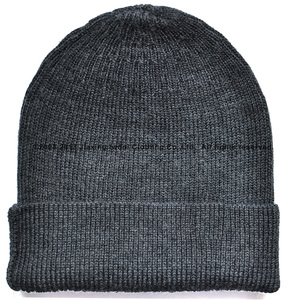 Image 2 - 100% Super Fine merino wool men women unisex Beanie Hat Sports warmer thermal winter outdoors Ribbed Knit Warden TAD Style Cap