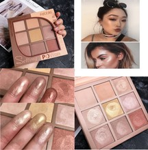 цена Eyeshadow Palette Shimmer Luminous Glitter Eyeshadow Pallete Highlighter Bronzer Contour Face Glow Kit Makeup Eyeshadow Palette в интернет-магазинах