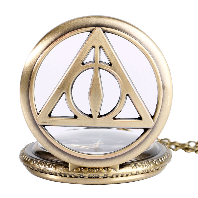 Χάλκινο Vintage Τρίγωνο Το Deathly Hallows - Ρολόι τσέπης - Φωτογραφία 4