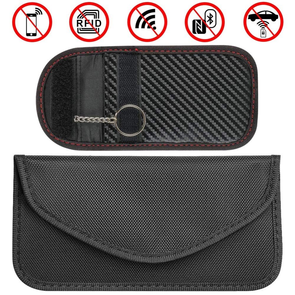 Us 4 89 Rfid Faraday Bag Keyless Fob For Cell Phone Credit Cards Car Key Signal Blocking Pouch Prevention Wallet Wifi Nfc Blocker In