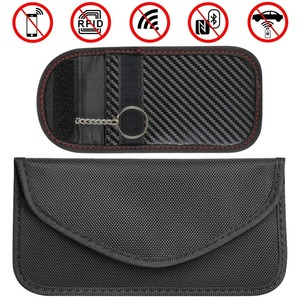 RFID Faraday Bag Keyless Fob for Cell Phone Credit Cards,Car Key Signal Blocking Pouch,Prevention Wallet WIFI/NFC Signal Blocker(China)