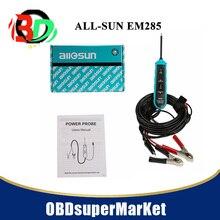 Все-Sun EM285 датчик мощности автомобиля электрическая цепь тестер автомобильные инструменты 6-24 В DC
