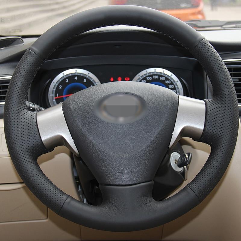 Särav nisu Käsitsi õmmeldud must Kunstnahk Toyota Corolla - Auto salongi tarvikud - Foto 2