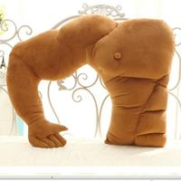 1Pc Fashion Muscular Boyfriend Arm Pillow Massager Shape Large Pillow Cushions Pillow Girlfriend Birthday Gift Graduation