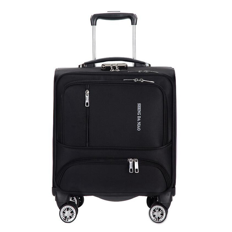 Travel suitcase with wheels Rolling Luggage Spinner trolley case 18 inch boarding laptop bags Woman carry-on luggage travel bag
