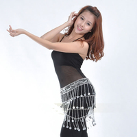 New Woman S Polyester Belly Dance Mesh Waist Decoration Silver Waist Chains Stage Performance High Quality