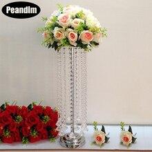 PEANDIM 55cm Tall Acrylic Wedding Table Centerpiece Home Party Flowers Decor Road Leads Flower Rank