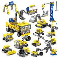 KAZI 318 cái DIY Xây Dựng xe Kỹ Thuật máy xúc Khối Xây Dựng Mô Hình thiết lập Tương Thích Legoed thành phố Trẻ Em gạch Đồ Chơi