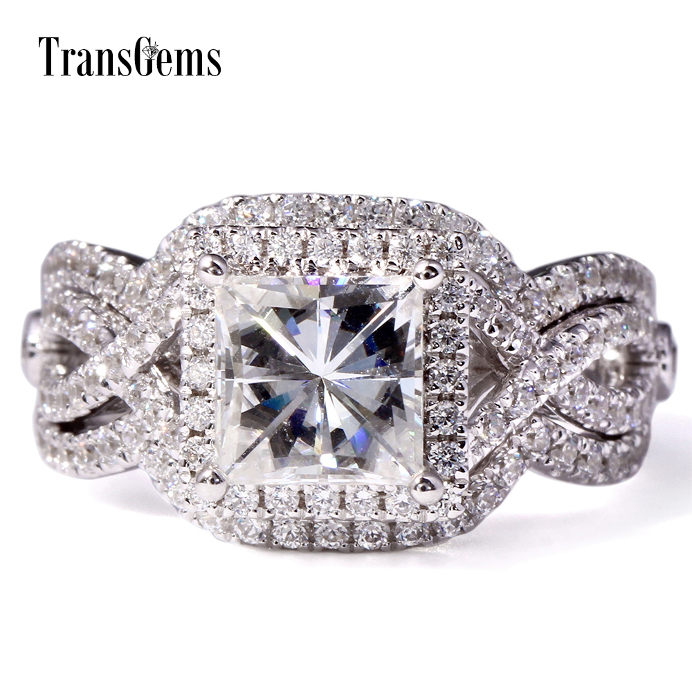 Square Diamond Wedding Ring Sets