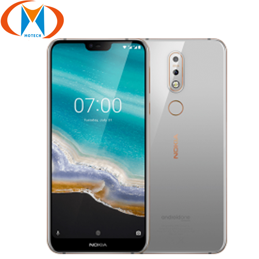 """Глобальная версия 5,84 """"Nokia 7,1 TA-1085 мобильный телефон 4G LTE Snapdragon 636 4 Гб ОЗУ 64 Гб ПЗУ Восьмиядерный отпечаток пальца NFC Смартфон"""