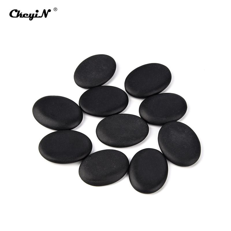 10Pcs Lava Natural Energy Massage Hot Stone Body Beauty Health Care Stone Therapy Relieve Stress Tension Back Pain Health Care
