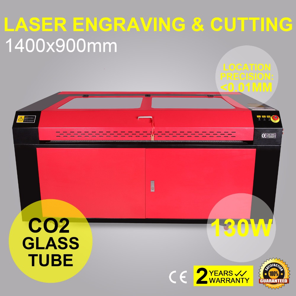 130W CO2 LASER ENGRAVING CUTTING MACHINE ENGRAVER 1400X900MM WITH <font><b>CW</b></font> <font><b>5000</b></font> <font><b>CHILLER</b></font> AND ROTARY AXIS image