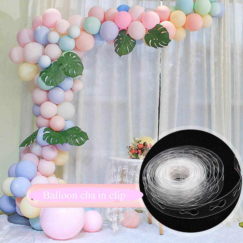 5M acessórios cadeia de balão balão balão de Festa de aniversário De casamento de Borracha fita Deco acessórios bomba de fundo