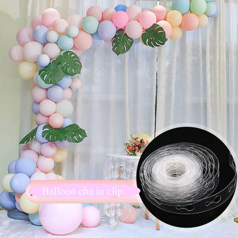 5M balloon accessories chain Rubber wedding birthday Party Deco background pump ribbon