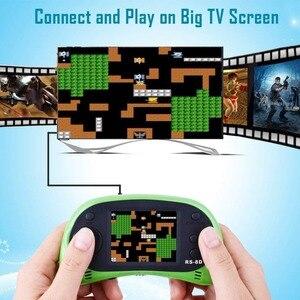 Image 4 - RS 8D 2.5 lcd الاطفال ريترو يده ألعاب لاعب والتلفزيون لعبة فيديو المدمج في 260 ألعاب المدرسة القديمة المحمولة ممر الألعاب
