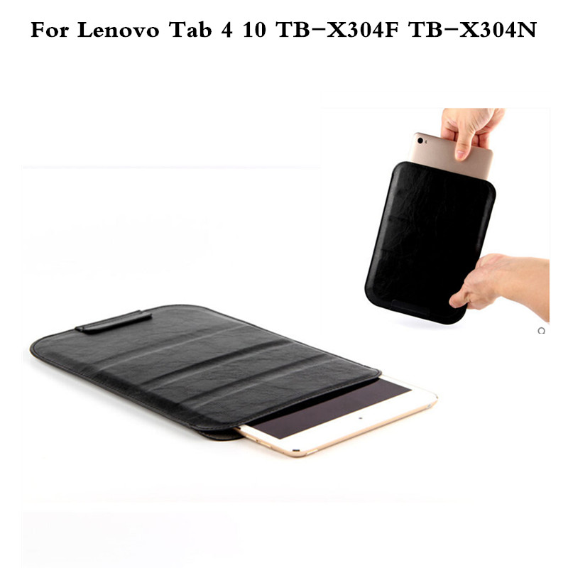 Fashion PU Leather Sleeve Case Cover For Lenovo Tab4 10 TB-X304F TB-X304N 10 inch Tablet Can Stand Slim Pouch Bag slim fit stand feature folio flip pu hybrid print case for lenovo tab 3 730f 730m 730x 7 inch