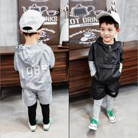 New Spring Autumn Boy's Clothing Sets Sport Pullover Set Fashion Kid 2pic Suits Set Toddler Striped Tracksuit baby 2 6years