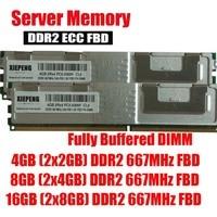Server memory 8GB (2x 4GB) DDR2 ECC FBD 16GB 667MHz FB DIMM 4GB 2Rx4 PC2 5300F Fully Buffered DIMM 240pin 5300 RAM