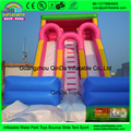 China low price high quality garden inflatables slides pink girl cheap inflatable dry slides for child for party use
