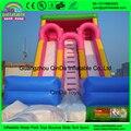 China precio bajo de la alta calidad jardín inflables diapositivas pink girl barato inflable toboganes seco para niño para uso del partido