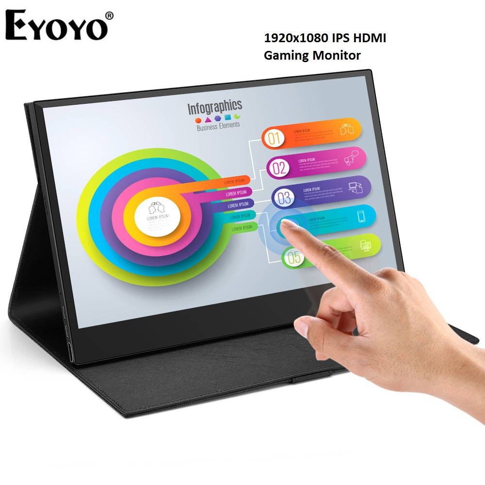 Eyoyo 13.3 Portable 1920x1080 IPS HDMI Gaming Monitor compatible for Xbox One Xbox 360 PS3 PS4 WiiU Switch Raspberry Pi Eyoyo 13.3 Portable 1920x1080 IPS HDMI Gaming Monitor compatible for Xbox One Xbox 360 PS3 PS4 WiiU Switch Raspberry Pi