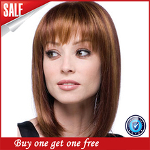 Ombre Best Light Yaki Straight Human Hair Virgin Brazilian Lace Wig With Bangs Glueless Front Lace Wig For Black Women