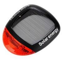 Cycling Bicycle Bike Tail Warning Light 2 LEDs Solar Power Safety Rear Lamp Waterproof Cycling Flashing
