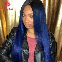 Цвет человека Синтетические волосы на кружеве парик для Для женщин 130% плотность прямые волосы бразильский Синтетические волосы на кружеве