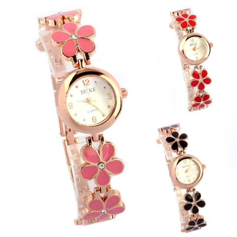 35742fe73 ... New Design Lovely Daisies Flower Women's Watch Rose Gold Bracelet Wrist  Wacth Girls Ladies Dress Watches ...